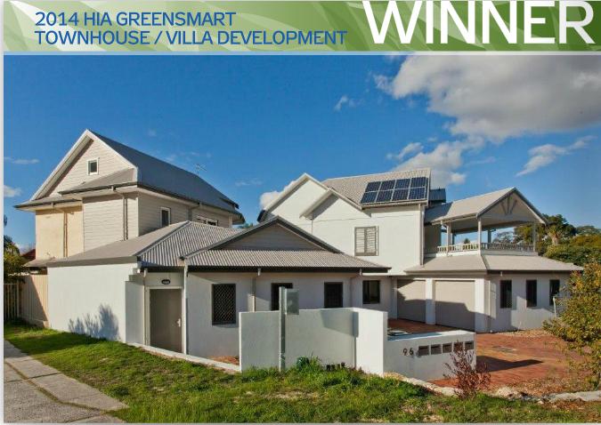 The Green Swing - 2014 HIA GreenSmart Townhouse/Villa Development Winner